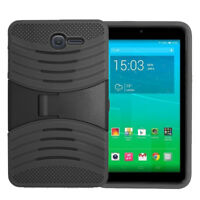 Alcatel OneTouch PIXI 7 Hybrid Silicone Case Cover Stand