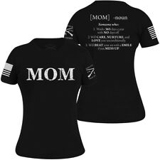 Grunt Style Women's Relaxed Fit Mom Defined T-Shirt - Black