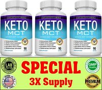 Keto Diet MCT OIL Pills 2000 MG Weight Loss Fat Burner & Carb Supplement 3 Month