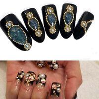 Fashion 3-5M Beads Line Chain For Acrylic Nail Art 3D False Tips DIY Decoration