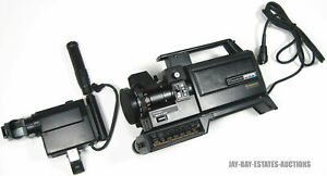 VINTAGE PANASONIC PK-957 CAMCORDER & PK-M055 VIEW FINDER DAMAGES UNTESTED PARTS