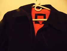 Esprit Black Trench Coat Pink Lining Over Coat USA Large Mid Length