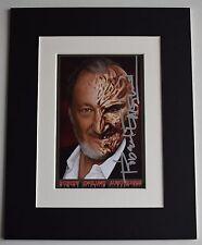 Robert Englund Signed Autograph 10x8 photo display Nightmare On Elm Street COA