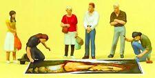 Preiser 10549 Street Painters & Pedestrians 00/H0 Model Rail Figures