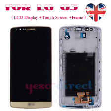 For LG G3 D850 D855 Screen Replacement LCD Touch Digitizer Display + Frame Gold