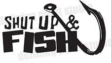 "8"" Shut Up & Fish Vinyl Decal"