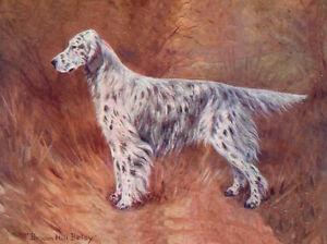 ENGLISH SETTER CHARMING DOG GREETINGS NOTE CARD BEAUTIFUL NAMED DOG