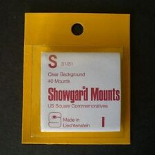 Showgard Stamp Mounts Size S 31/31 CLEAR Background Pack of 40