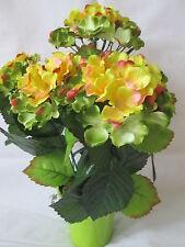 Hortensie incl Topf 40x35cm 5 Blüten Künstliche Kunst Blume Pflanzen Herbst Deko