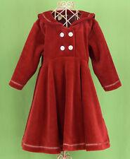 325 NWT Coccoli girl red ruffle holiday dress coat velvet NEW 18 m