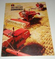 IH International McCormick 303 403 503 Combine Sales Brochure AD-2923-R IHC