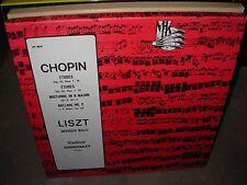 ASHKENAZY / CHOPIN / LISZT etudes / mephisto ( classical ) 2 lp box mk ussr