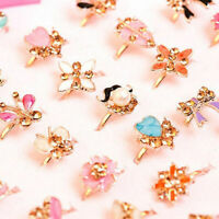 2Pcs Children Kids Girls Adjustable Cute Ring Jewelry Party Favor Gifts Pret