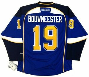 JAY BOUWMEESTER ST LOUIS BLUES REEBOK PREMIER HOME JERSEY NEW WITH TAGS