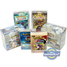 Pokemon Booster BOX PROTECTORS & Theme Decks STRONG 0.5mm PLASTIC DISPLAY CASE
