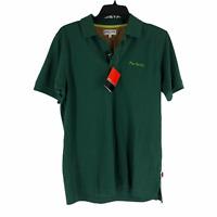Pierre Cardin Mens Large Hunter Green Chemises Short Sleeve Polo Shirt NEW