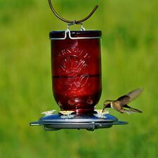 New!! Perky-Pet Hummingbird 32 oz. Glass Mason Jar Nectar Feeder 5 ports 786