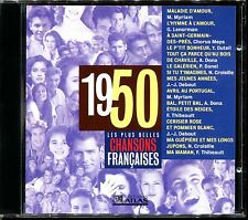 LES PLUS BELLES CHANSONS FRANCAISES - 1950 - CD COMPILATION ATLAS
