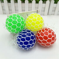 Fruity Water Ball Squeeze Grape Squishy Mesh Net Relax Stress Reliever Toy