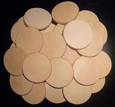 50 Lederstanzteile 40 mm rund Naturleder Blankleder Bastelleder Leder punzieren