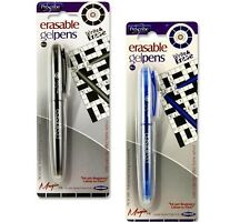 Erasable Gel Pens Friction Pens Write Erase Rollerball Black Blue Ink Proscribe
