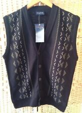 TOOTAL Mens Size Small Sleeveless Navy Blue Cardigan BNWT Lovely Tank Top