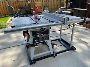 "Delta 10"" Table Saw Limited Edition w/ 30"" Biesemeyer Fence #36-431"