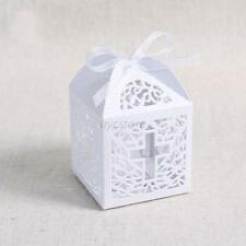New 50pcs White Paper Cross Laser Cut Wedding Party Favor Candy Gift Boxes U57