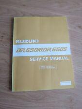 Original service manual Suzuki  DR650R / DR650S dec 1989