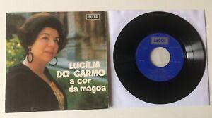 "FADO ORIGINAL EP 7"" DECCA PORTUGAL 1968 LUCILIA DO CARMO A COR DA MAGOA"