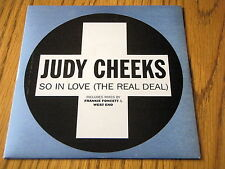 """JUDY CHEEKS - SO IN LOVE (THE REAL DEAL)     7"""" VINYL PS"""