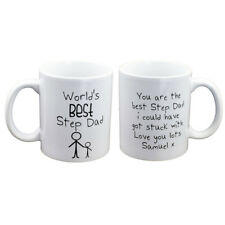 Personalised Worlds Best Step Dad Mug Fathers Day Birthday - XCMN273