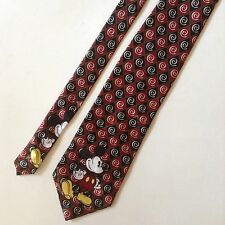 Mickey Mouse Men's Neck Tie Mickey Unlimited Red Black Gold