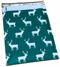 50 10x13 Green Reindeer Christmas #SmileMail Poly Mailers Shipping Envelopes