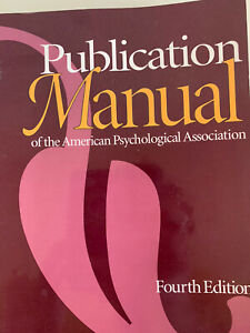 Publication Manual of the American Psychological Association (1994, Paperback)