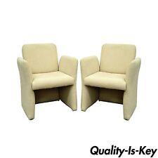Pair Vintage Mid Century Modern Modernist Lounge Club Chairs Milo Baughman Era