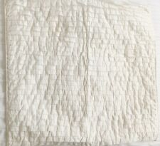 POTTERY BARN OFF WHITE TIERED RUFFLE EURO PILLOW COVER