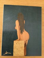 GEORGES VRIZ FRENCH CONTEMPORARY FEMALE NUDE MARQUETRY PICTURE PAINTING