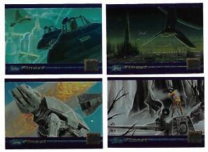 STAR WARS Finest 4 Chrome SWGM1 - SWGM4 Promo Card Set TOPPS 1996