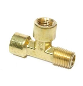 1/4 Npt Male Female Street Tee T Forged Brass Pipe Fitting Fuel Air Oil Gauge