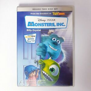 Monsters Inc. Movie DVD Region 4 AUS Free Postage - Kids Animated Disney Pixar