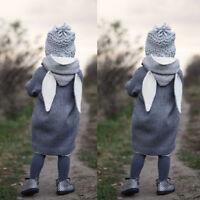 Baby Girl Boy Hooded Coat Jacket Toddler Kids Rabbit Ear Hoodies Coat Clothes