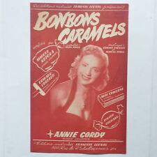 Partition Bonbons caramels ANNIE CORDY MARCEL AZZOLA ESWARD CHEKLER