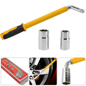 Extendable Wheel Brace Wrench Telescopic Car Socket Tyre Nut 17 19 21  23mm