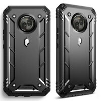 Poetic Shockproof Case For Motorola Moto X4 Full Coverage Protective Cover Black