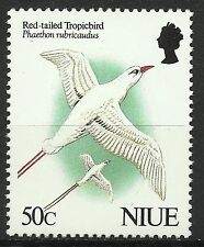 Niue Faune Oiseaux Phaéton Red Tailed Tropicbird Birds Tropikvogel Vogel ** 1991