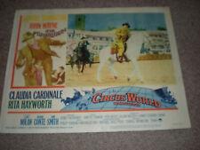 John Wayne Circus World Lobby Card Rita Hayworth J.Smith, C.Cardinale