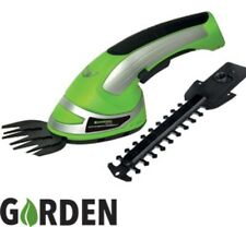 Garden Cordless Hedge Trimmer Grass Cutter Bush Shrub Shear Hand Held 3.6V 2in1