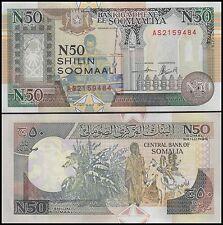 Somalia 50 Shillings Banknote, 1991, P-R2, UNC