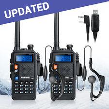 2PCS 2015 BAOFENG UV-5X UHF+VHF Dual Band 2-Way Ham Radio+Cable UV-5R Upgrades